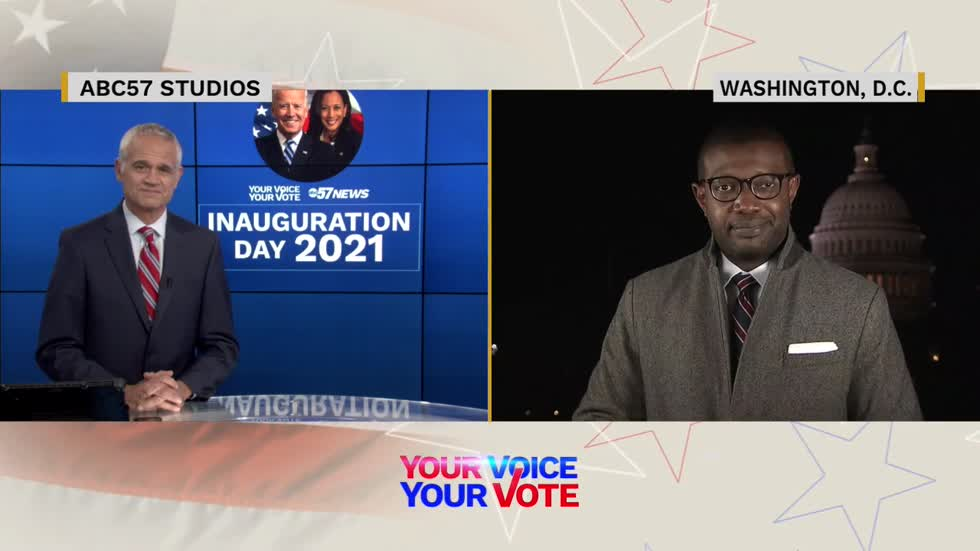 ABC's Alex Presha weighs in on Inauguration Day events live...